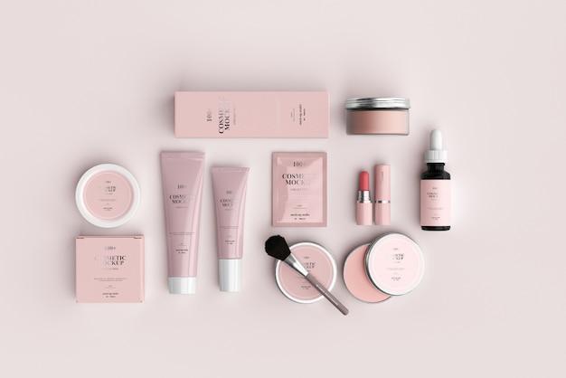 Maquetes de produtos cosméticos