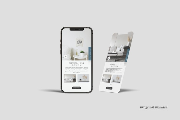 Maquetes de smartphone e tela