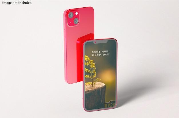 Maquetes de smartphone vermelho