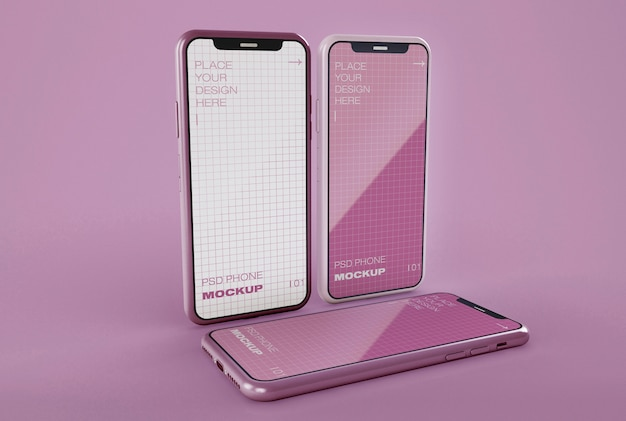Maquetes de smartphones