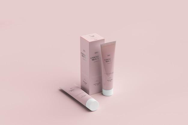 Maquetes de tubos de cosméticos