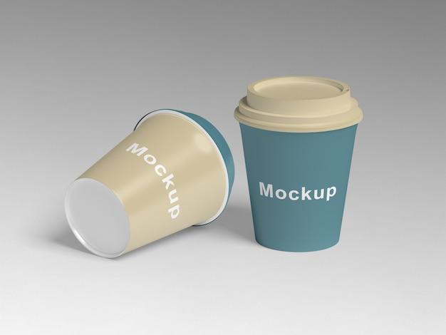 Maquetes de xícara de café