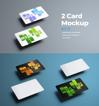 Maquetes universais para apresentar cartões de presente e de banco