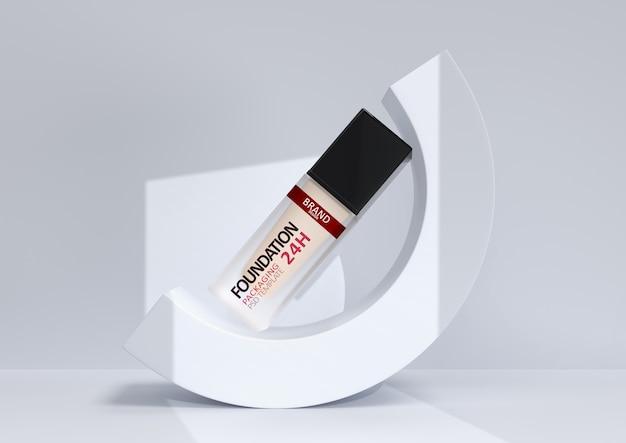 Maquiagem base em embalagens elegantes