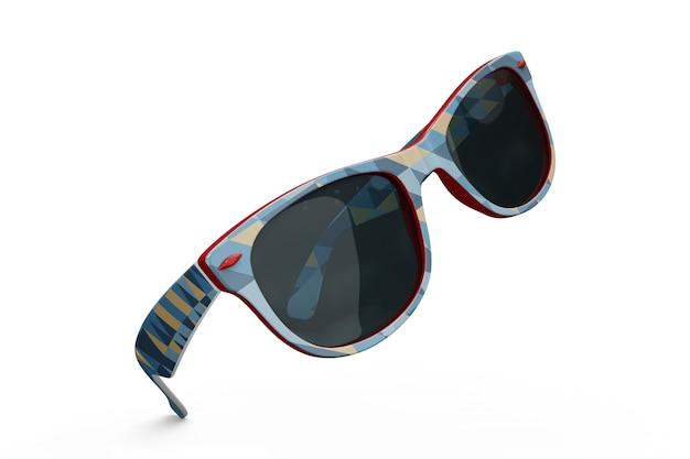 Maquiagem colorida de óculos de sol