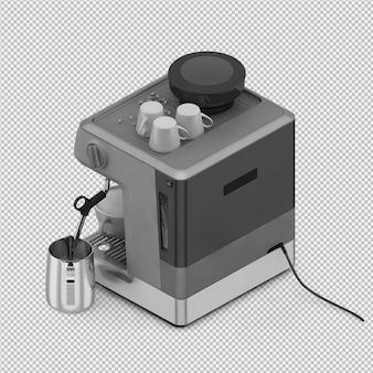 Máquina de café isométrica 3d isolado render