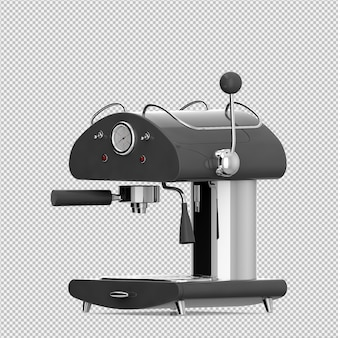 Máquina de café isométrica 3d render