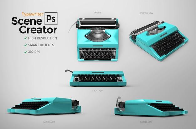 Máquina de escrever vintage. criador de cena. recurso de design.