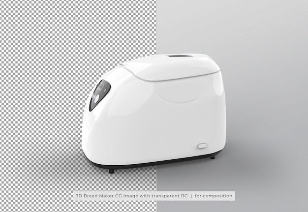 Máquina de fazer pão em renderização 3d isolada