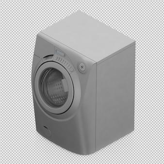 Máquina de lavar roupa isométrica 3d render
