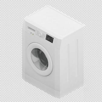Máquina de lavar roupa isométrica