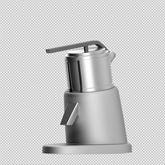 Máquina de suco liquidificador isométrico