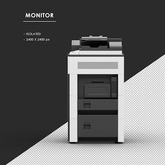 Máquina fotocopiadora isolada a partir da vista esquerda