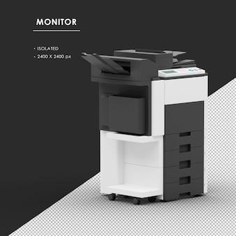 Máquina fotocopiadora isolada da vista frontal direita