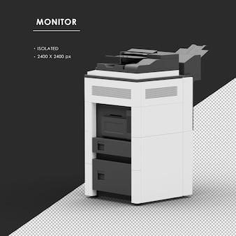 Máquina fotocopiadora isolada da vista traseira esquerda