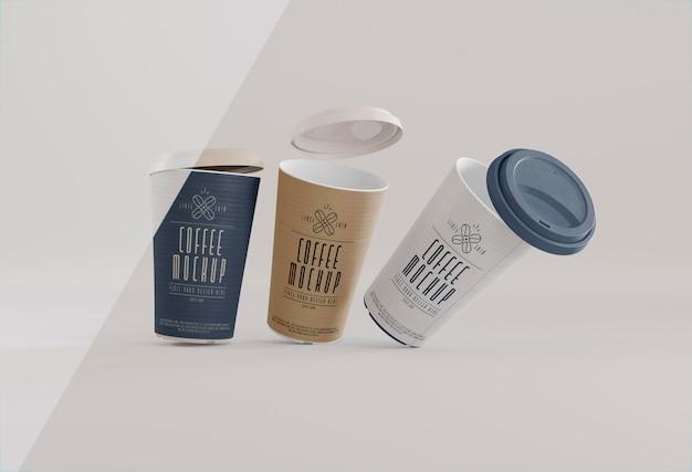 Marca de café com xícaras