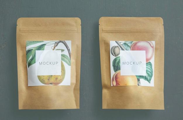 Marca e embalagem de chá orgânico