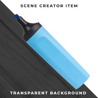 Marcador caneta objeto transparente psd