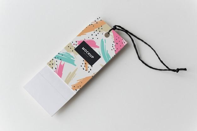Marcador colorido tags mockup design