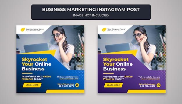 Marketing de negócios instagram post banner design