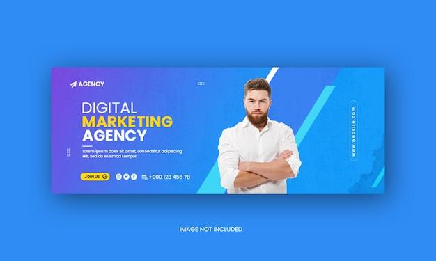 Marketing digital agecy mídia social capa do facebook ou modelo de banner da web