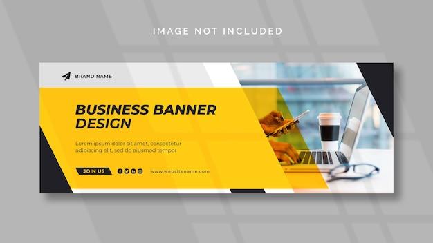 Marketing digital facebook ou modelo de banner da web