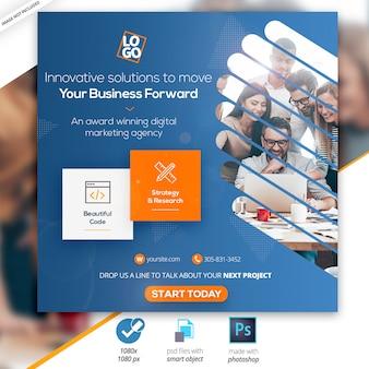 Marketing empresarial social instagram media web banner
