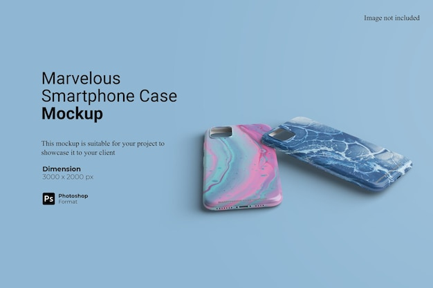 Marvelous smartphone case mockup design isolated