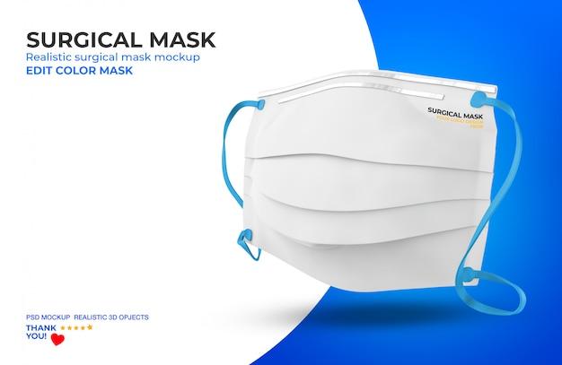 Máscara cirúrgica mockup