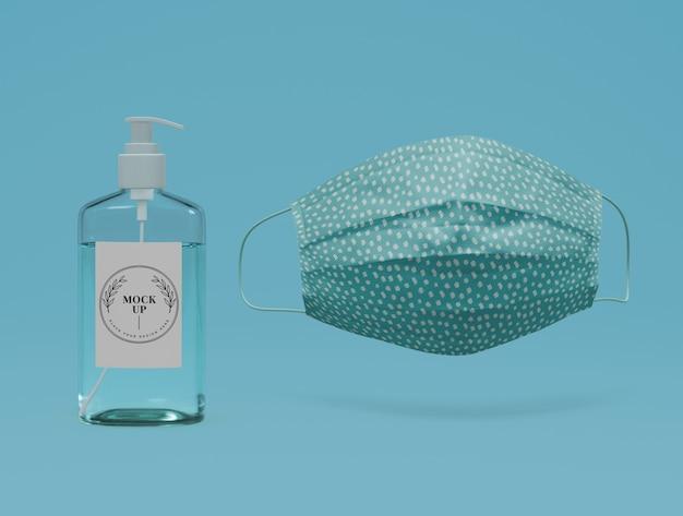 Máscara de prevenção com desinfetante para as mãos