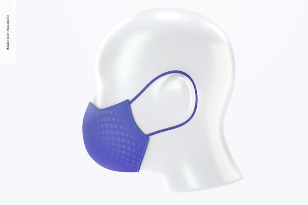 Máscara facial com maquete de bandas elásticas