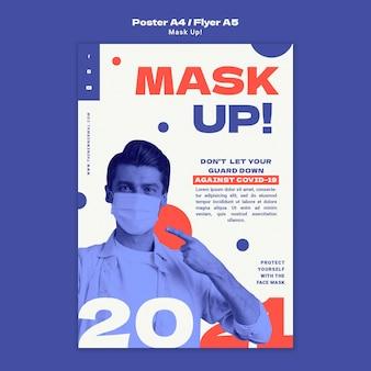 Máscara para modelo de pôster vertical de 2021