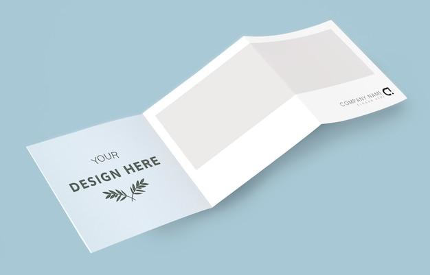 Materiais impressos da maquete do folheto dobrável em três partes