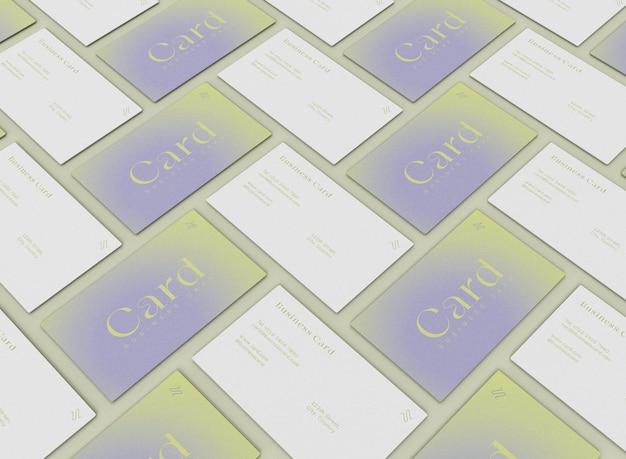 Matriz 3d de modelos de cartões de visita