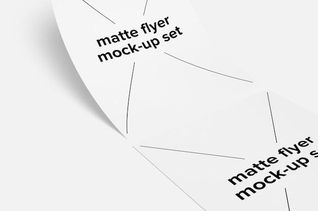 Matte flyer mock up