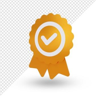 Medalha de ouro prata bronze renderização em 3d