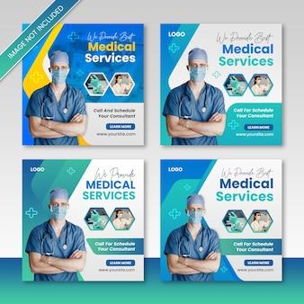 Médico e consultor de saúde social media post design de instagram