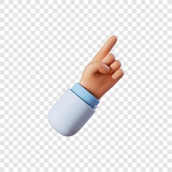 Médico gesto apontando com a mão
