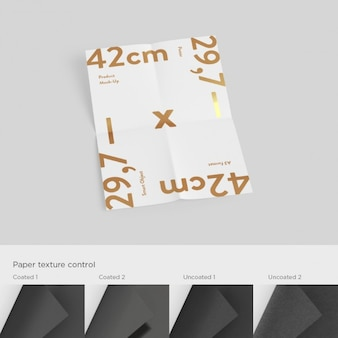Medições de papel a3 mock up