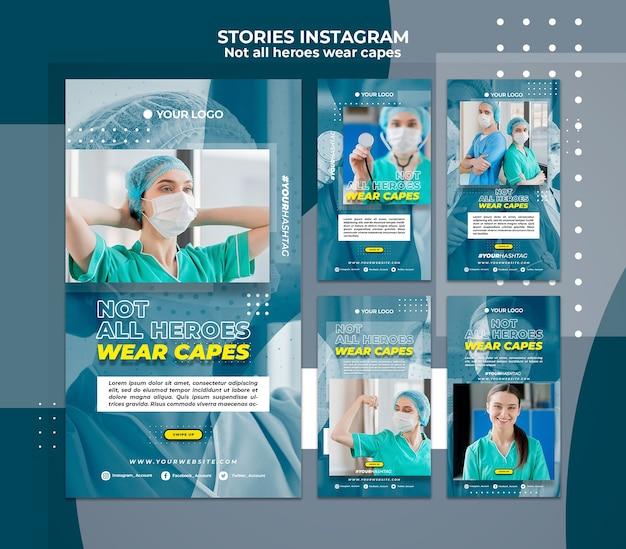 Médicos no hospital instagram stories