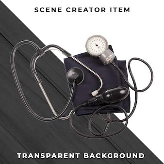 Medidor de pressão arterial isolado com traçado de recorte