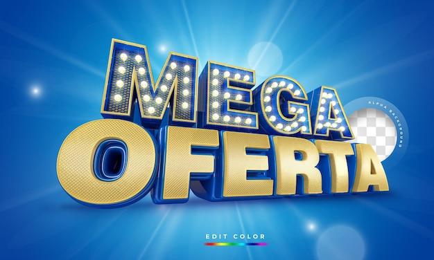 Mega oferta no brasil, promoção de template de renderização 3d