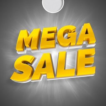 Mega venda de texto ouro renderização em 3d