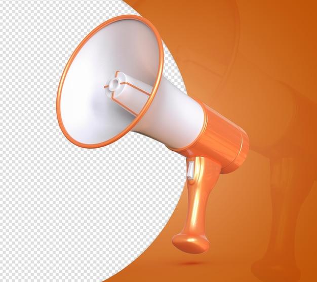 Megafone para oferta de chamadas orange 3d