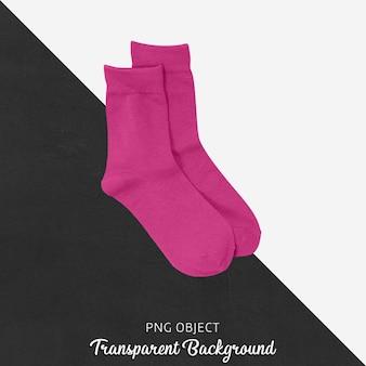 Meias cor de rosa transparentes