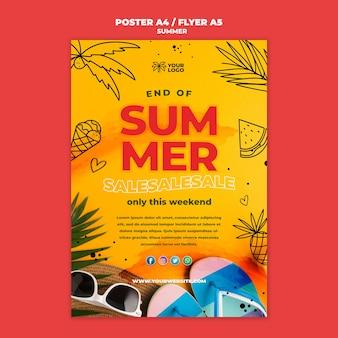 Melhor modelo de cartaz de vendas de verão