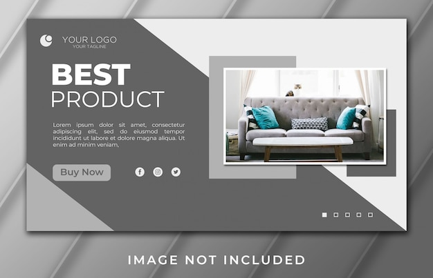 Melhor modelo de casa e mobiliário de produto psd