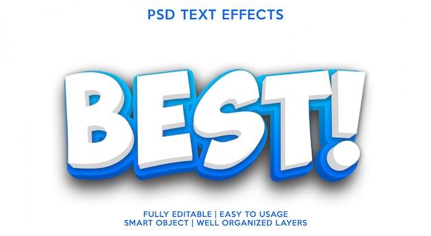 Melhor modelo de efeito de texto