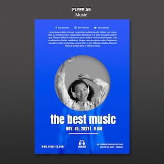 Melhor modelo de folheto de música