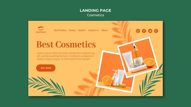 Melhor modelo de página de destino de cosméticos